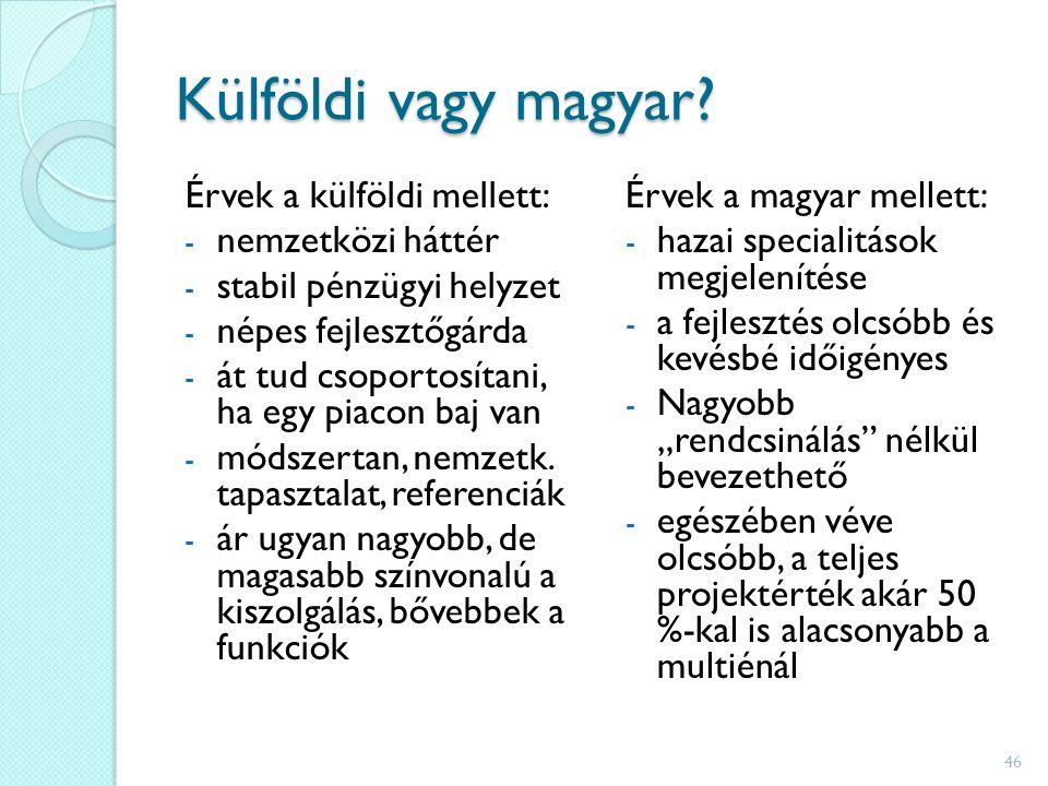 Külföldi vagy magyar.