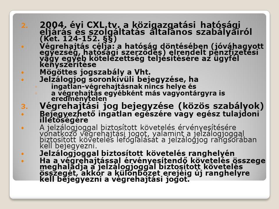 2.2004. évi CXL.tv. a közigazgatási hatósági eljárás és szolgáltatás általános szabályairól (Ket.