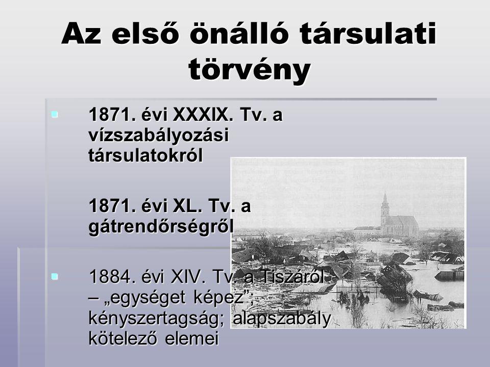 Az első önálló társulati törvény  1871.évi XXXIX.