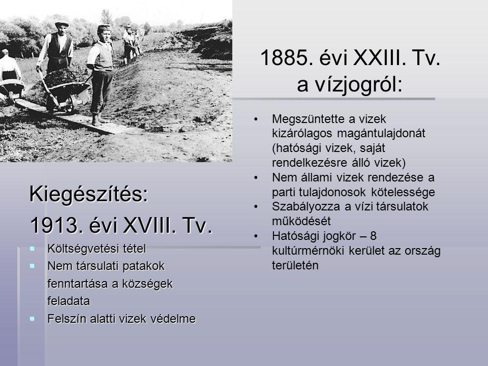 Kiegészítés: 1913.évi XVIII. Tv.