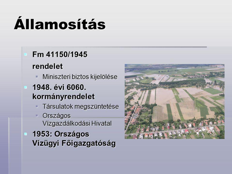 Államosítás  Fm 41150/1945 rendelet  Miniszteri biztos kijelölése  1948.