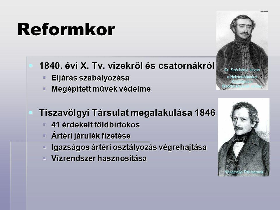Reformkor  1840.évi X. Tv.