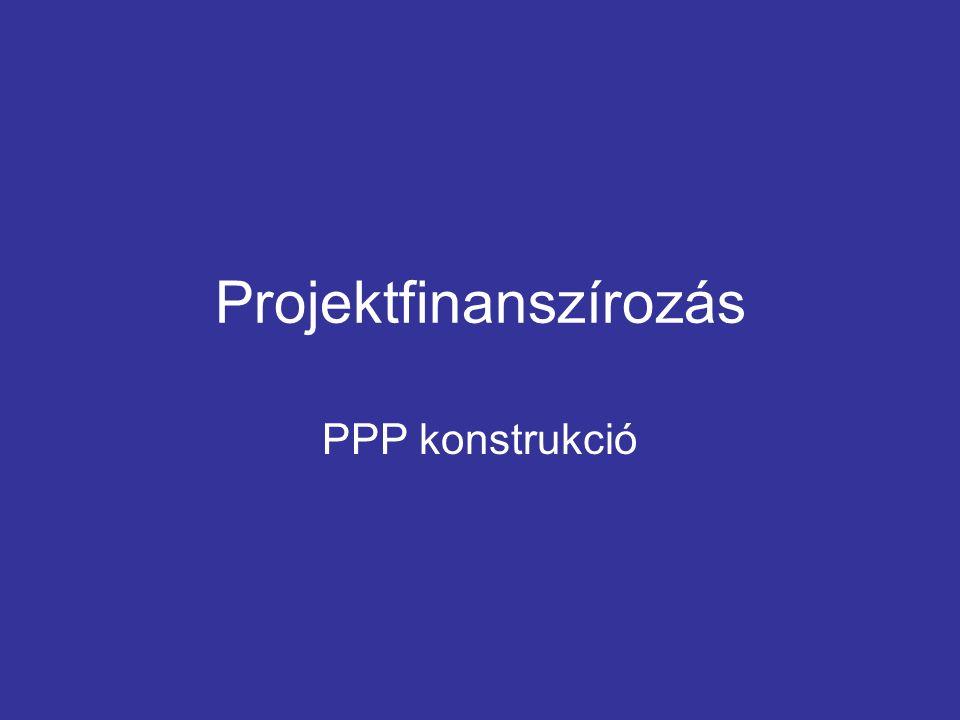 """A PPP FOGALMA A """"Public Private Partnership , azaz a köz- és magánszféra partnersége az állam és a magán- szféra olyan együttműködési formáját jelenti, amelyben a felek a közszolgáltatás nyújtásának felelősségét és kockázatát közösen viselik."""