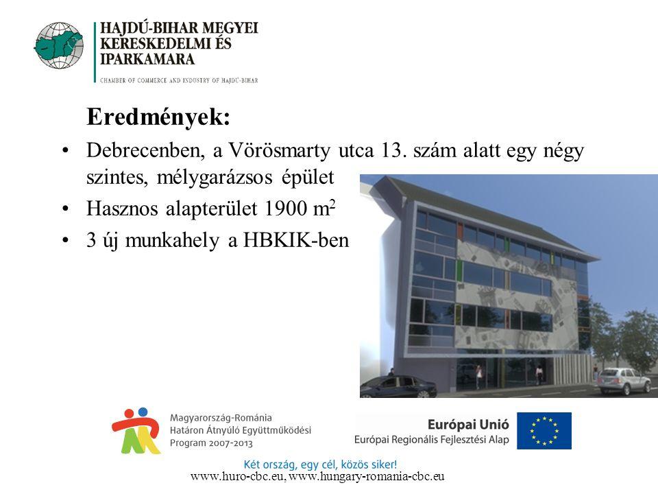 Eredmények: Debrecenben, a Vörösmarty utca 13.
