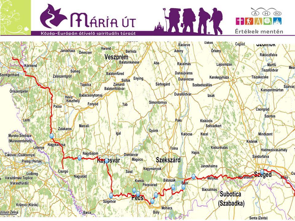 A Mária Út számokban: -Itthon kb.400 települést érint - Az úthálózat kb.