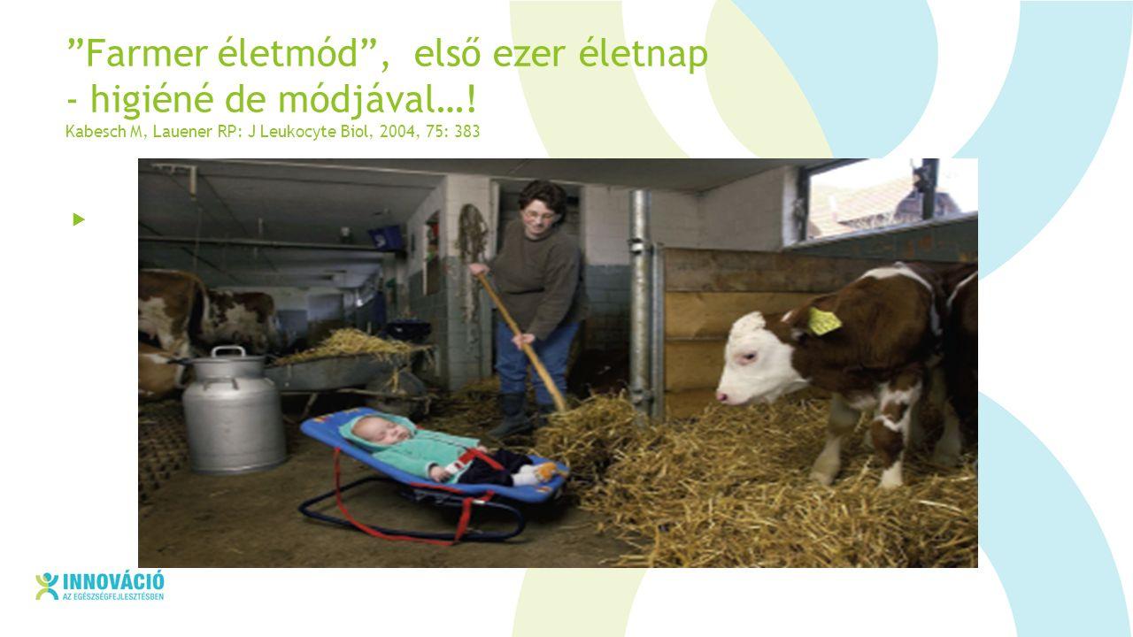 Farmer életmód , első ezer életnap - higiéné de módjával….