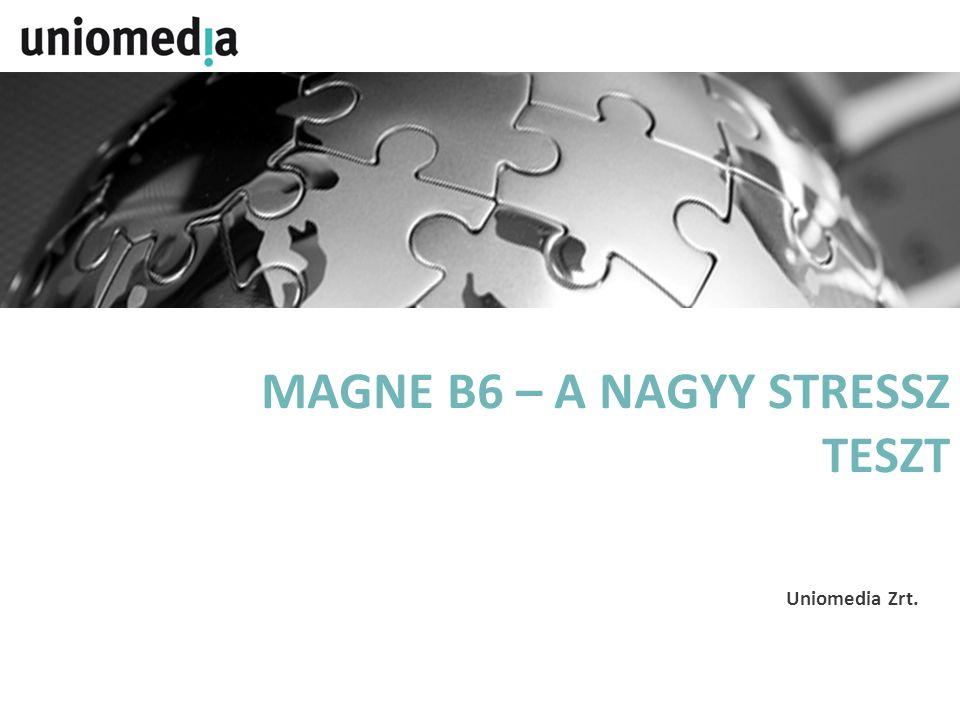 A PROJEKT CÉLJA A Magne B6 ismertségének támogatása, valamint az eladási volumen növelése, branded megjelenések generálása A CÉLCSOPORT Célcsoport – Általános (18 - 59)