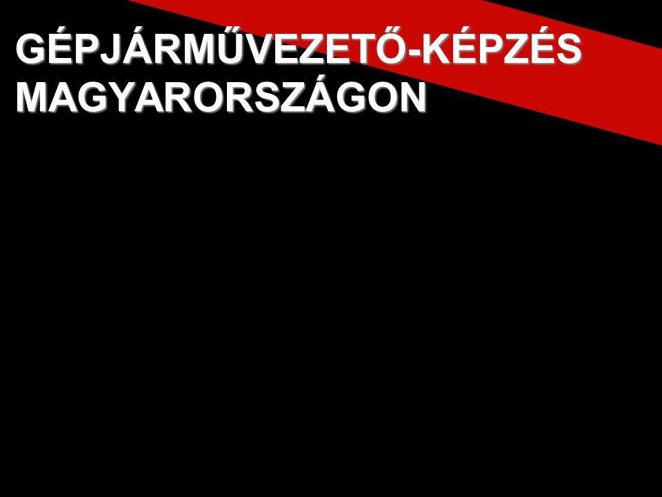 Jogszabály Jogszabály GÉPJÁRMŰVEZETŐ-KÉPZÉS MAGYARORSZÁGON
