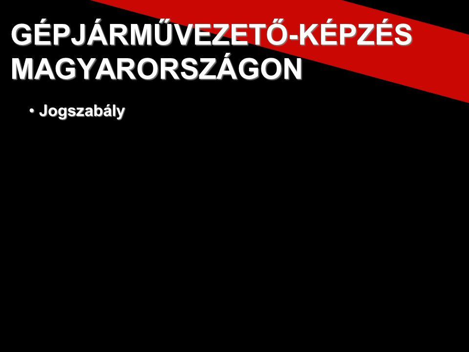 A vezetői engedély átvétele GÉPJÁRMŰVEZETŐ-KÉPZÉS MAGYARORSZÁGON