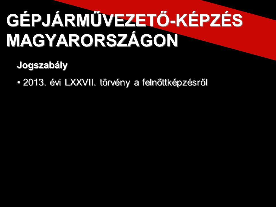 2013.évi LXXVII. törvény a felnőttképzésről 2013.