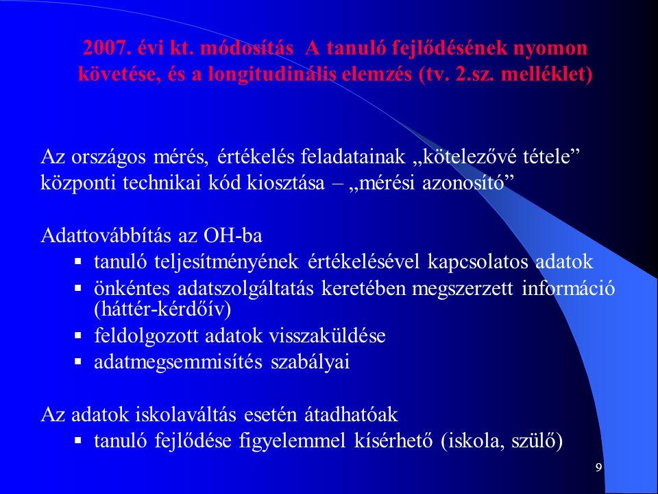 10 Aktuális jogszabályok és adatbázisok 2007.évi májusi 4, 6., 8., 10.