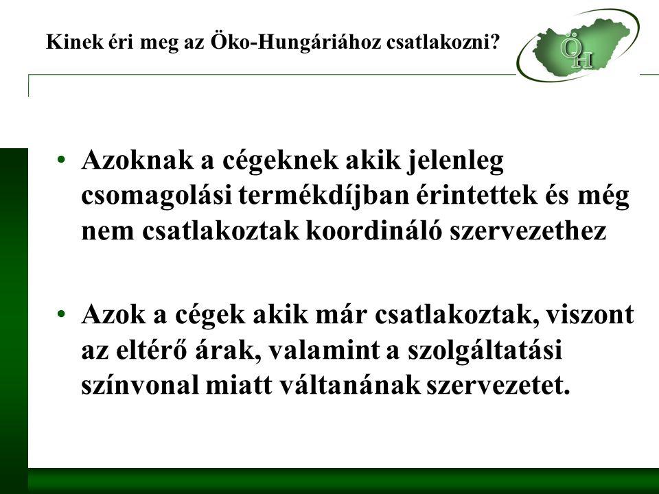 Kinek éri meg az Öko-Hungáriához csatlakozni.