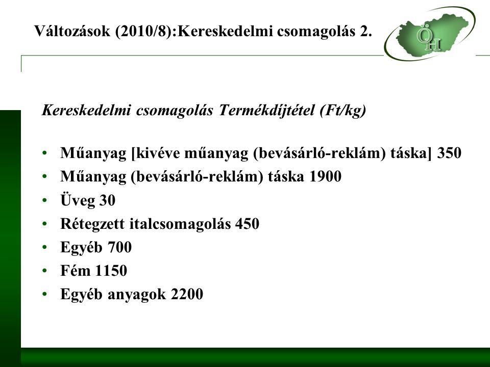 Változások (2010/8):Kereskedelmi csomagolás 2.