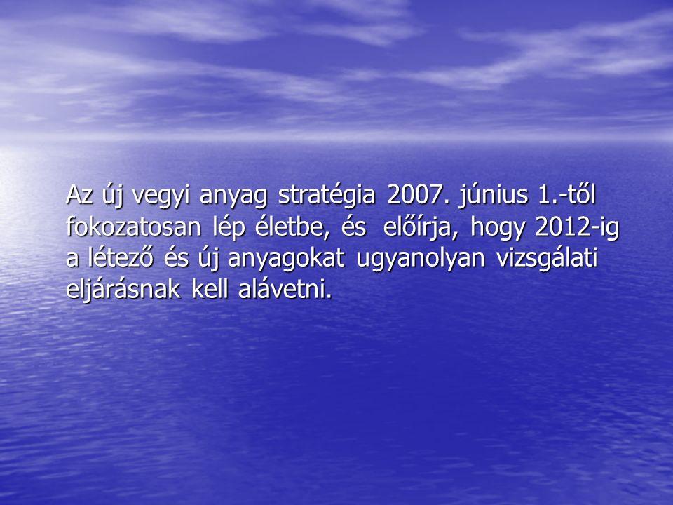 Az új vegyi anyag stratégia 2007.