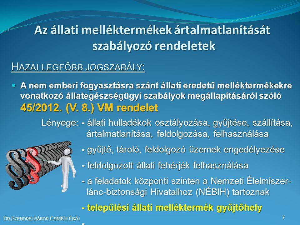 45/2012.(V. 8.) VM rendelet 12.