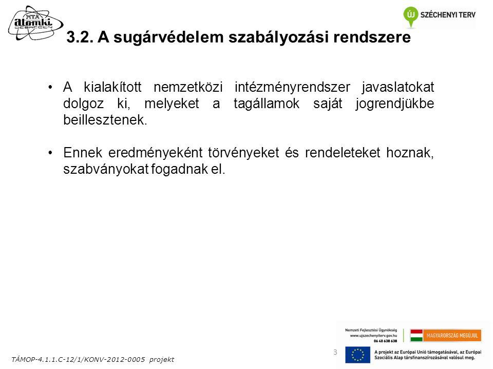 TÁMOP-4.1.1.C-12/1/KONV-2012-0005 projekt 14 3.3.Magyarországi jogi szabályozás 1996.
