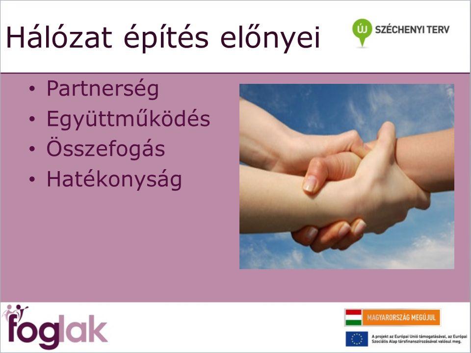 Hálózat építés előnyei Partnerség Együttműködés Összefogás Hatékonyság
