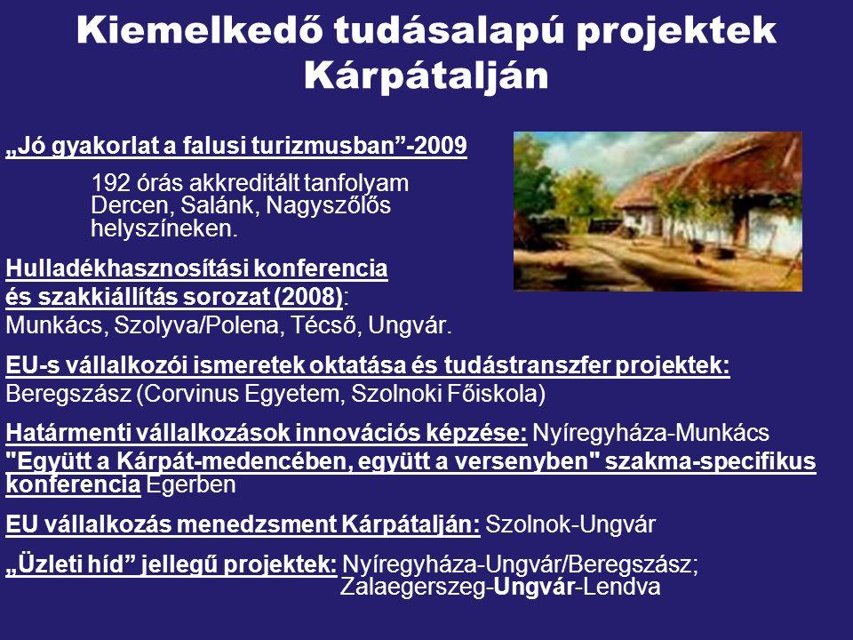 """""""Jó gyakorlat a falusi turizmusban -2009 192 órás akkreditált tanfolyam Dercen, Salánk, Nagyszőlős helyszíneken."""