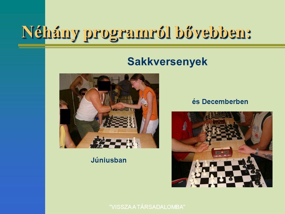 Néhány programról bővebben: Sakkversenyek Júniusban és Decemberben