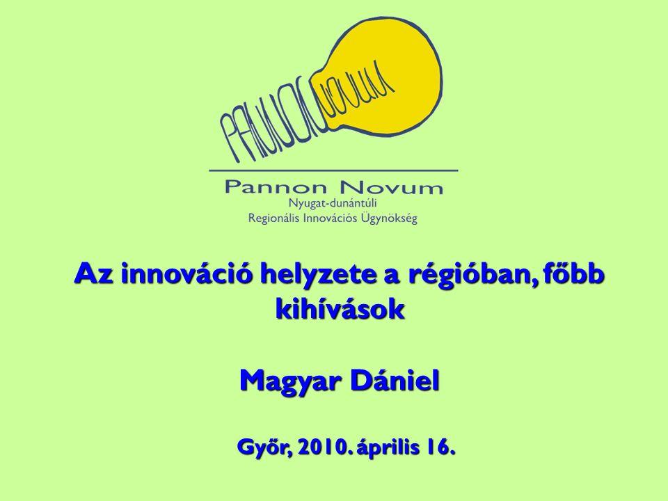 Az innováció helyzete a régióban, főbb kihívások Magyar Dániel Győr, 2010. április 16. Győr, 2010. április 16.