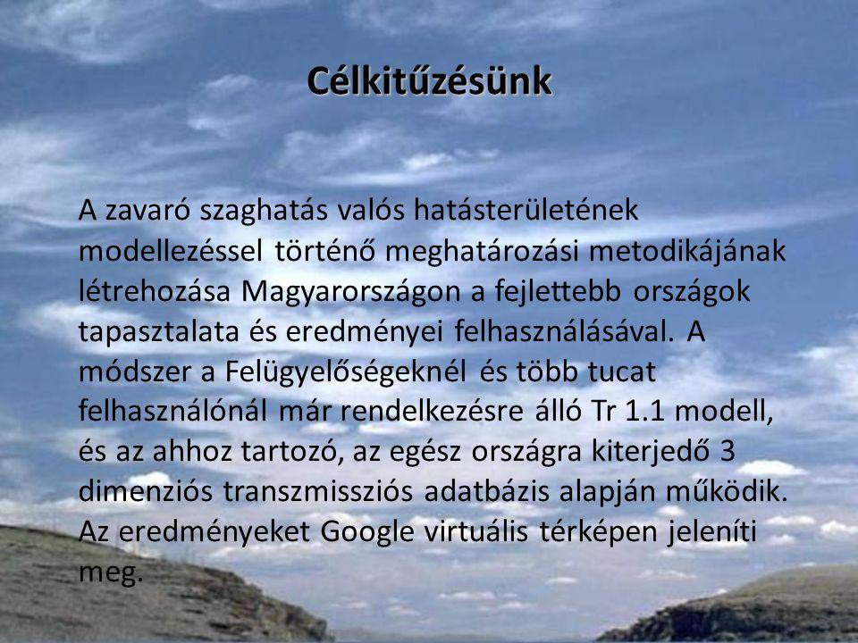 Célkitűzésünk A zavaró szaghatás valós hatásterületének modellezéssel történő meghatározási metodikájának létrehozása Magyarországon a fejlettebb országok tapasztalata és eredményei felhasználásával.