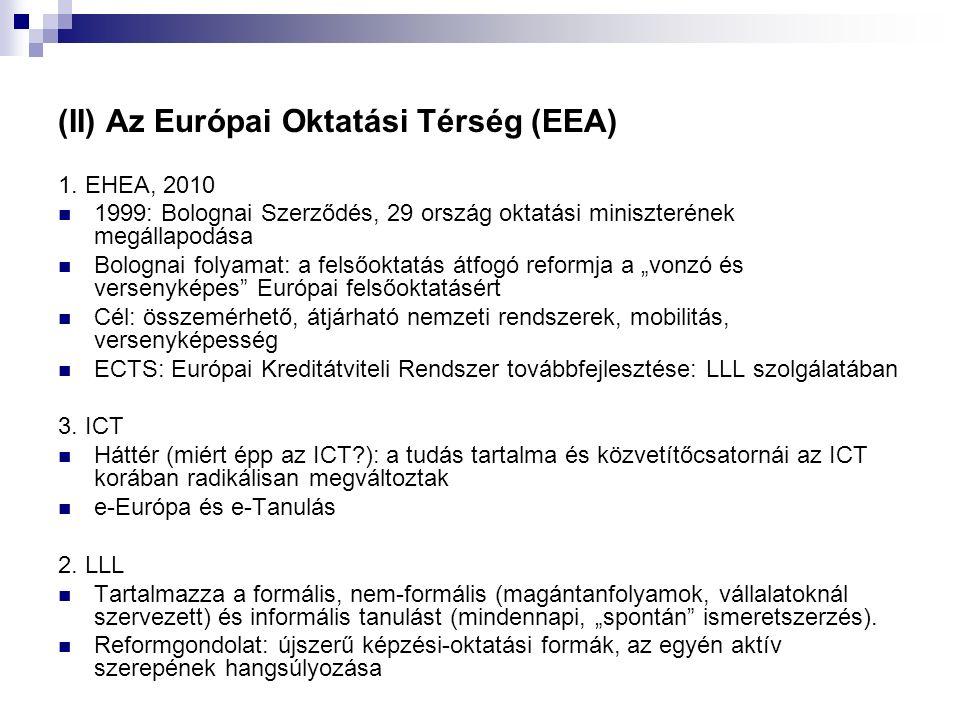 (II) Az Európai Oktatási Térség (EEA) 1.
