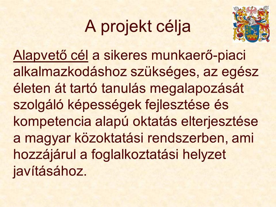A projekt célja Alapvető cél a sikeres munkaerő-piaci alkalmazkodáshoz szükséges, az egész életen át tartó tanulás megalapozását szolgáló képességek fejlesztése és kompetencia alapú oktatás elterjesztése a magyar közoktatási rendszerben, ami hozzájárul a foglalkoztatási helyzet javításához.