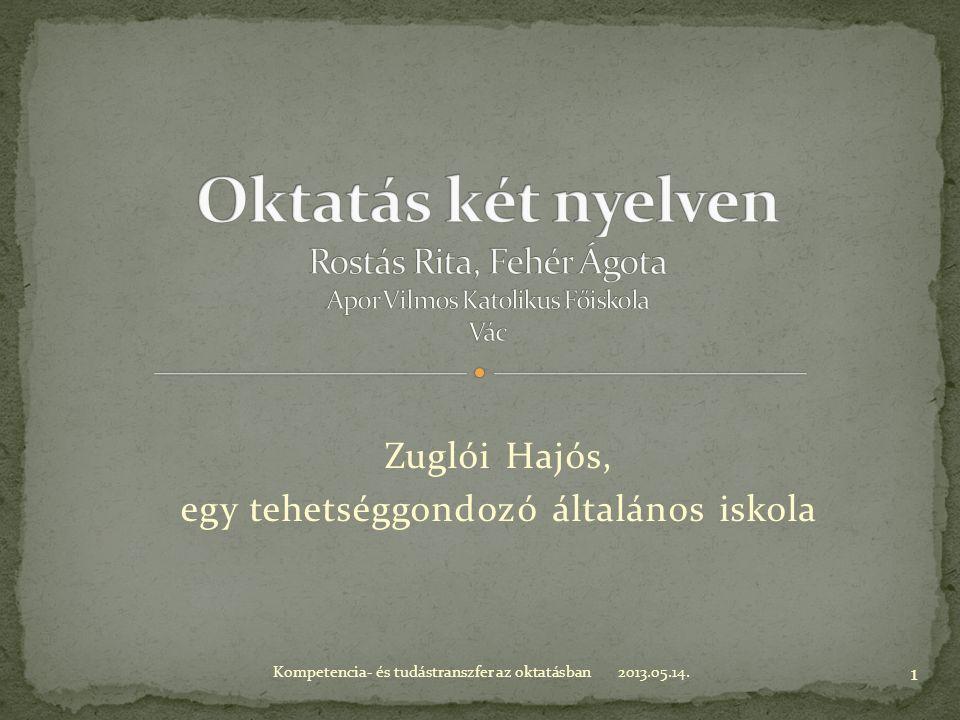 Zuglói Hajós, egy tehetséggondozó általános iskola 2013.05.14.