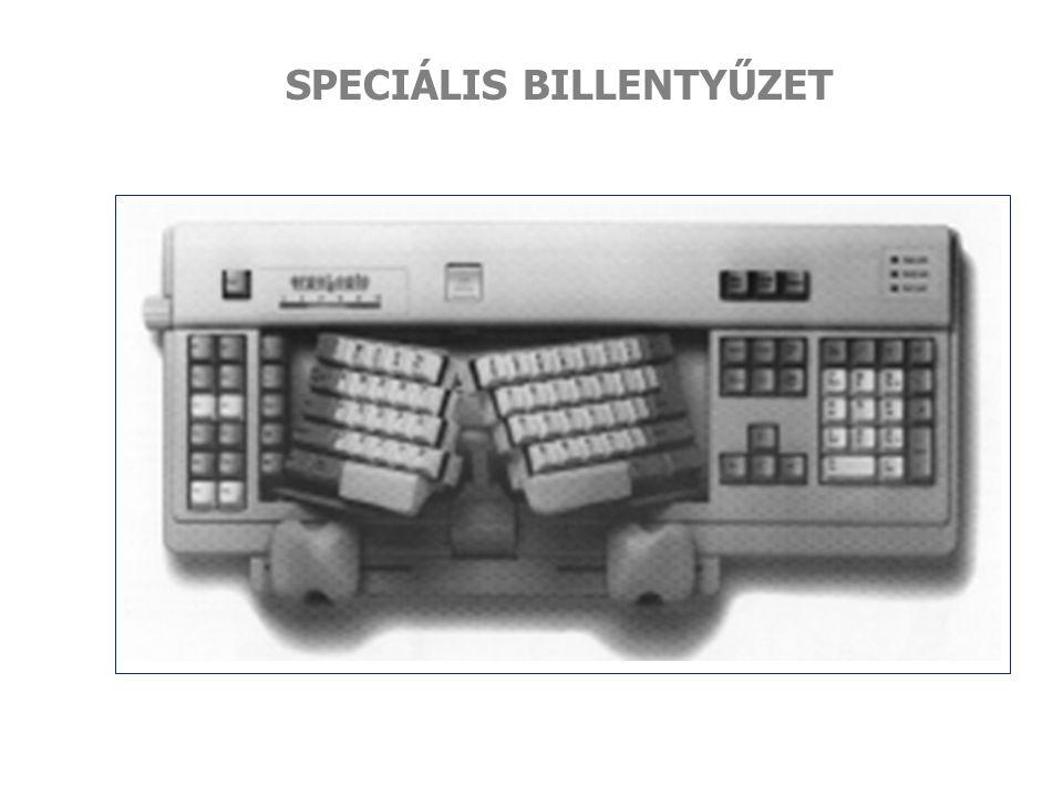 SPECIÁLIS BILLENTYŰZET