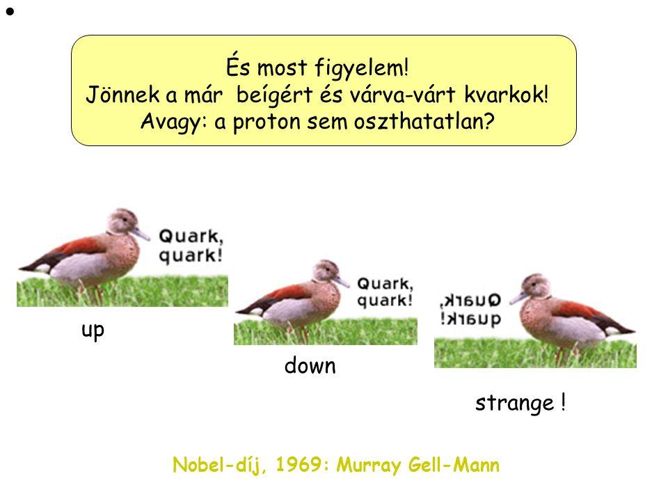 1963: A képen látható 33 éves fiatal amarikai elméleti fizikus, Murray Gell-Mann is ezen törte a fejét és megtalálta a megoldást!
