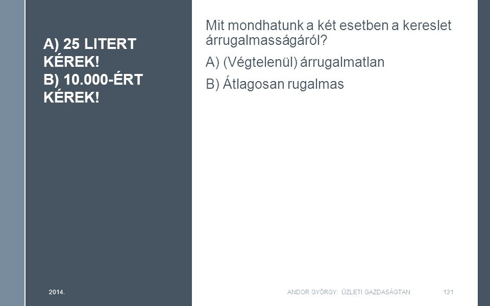 A) 25 LITERT KÉREK. B) 10.000-ÉRT KÉREK.
