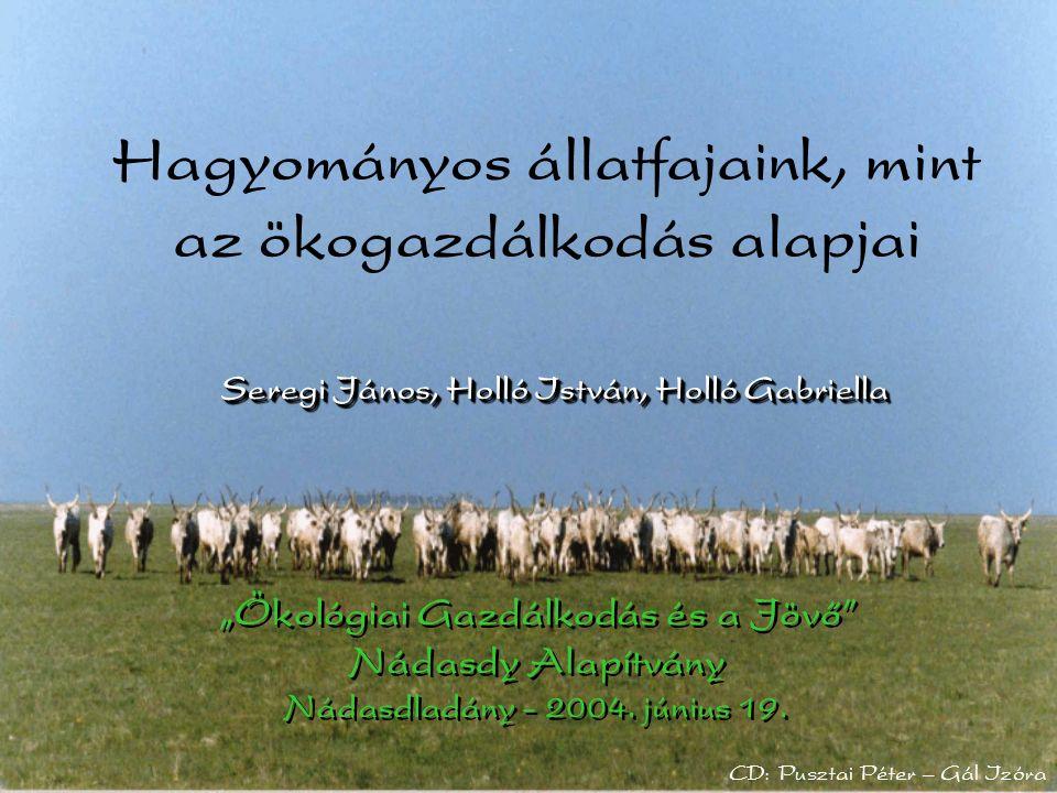 """Seregi János, Holló István, Holló Gabriella """"Ökológiai Gazdálkodás és a Jövő Nádasdy Alapítvány Nádasdladány - 2004."""