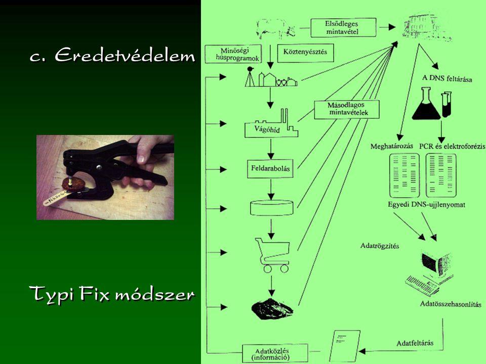 Typi Fix módszer c.Eredetvédelem