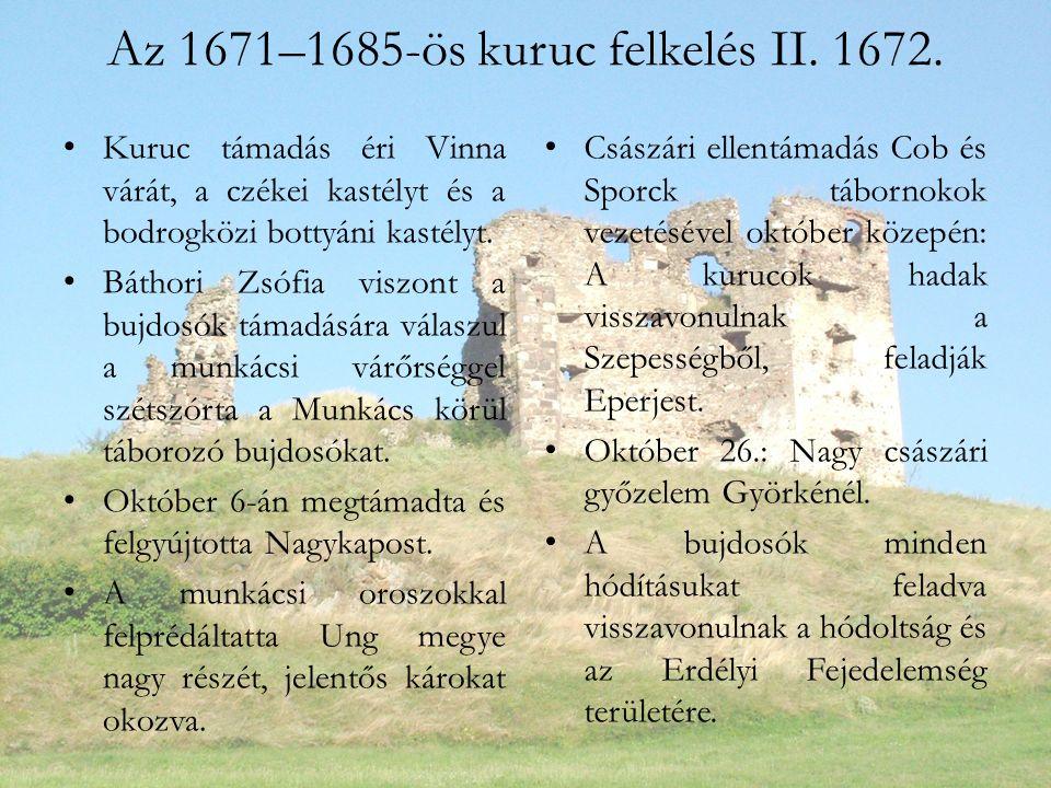 Az 1671–1685-ös kuruc felkelés II. 1672.