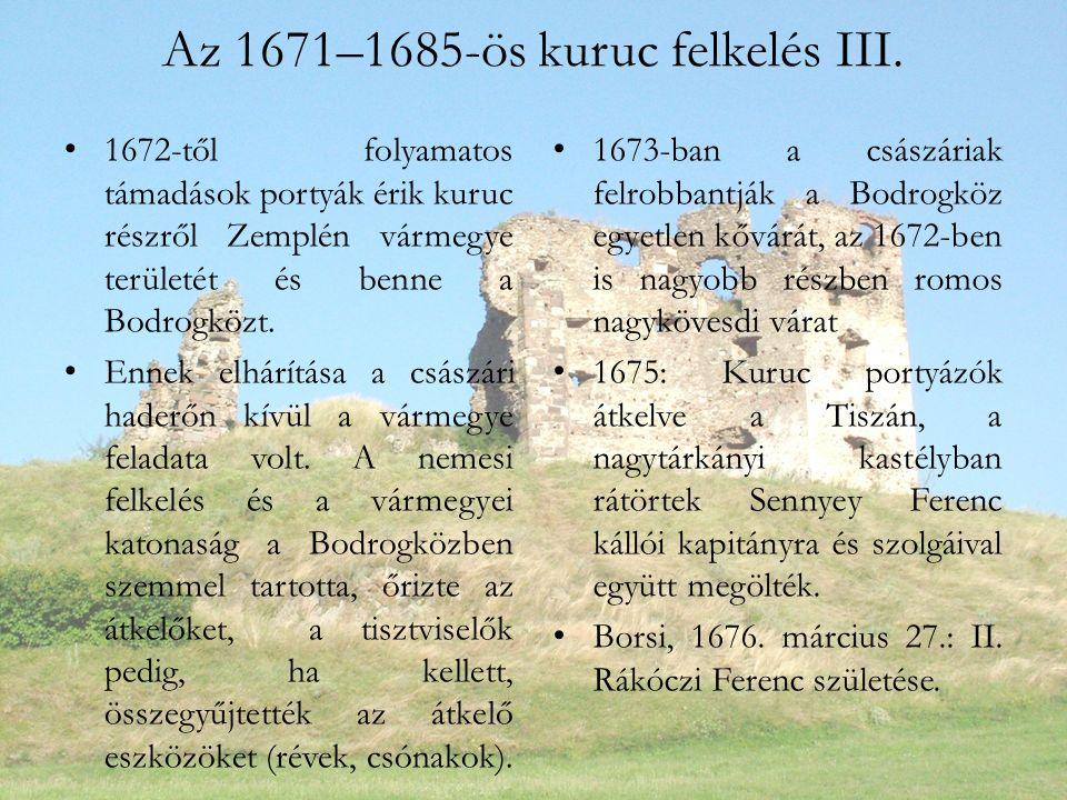 Az 1671–1685-ös kuruc felkelés III.