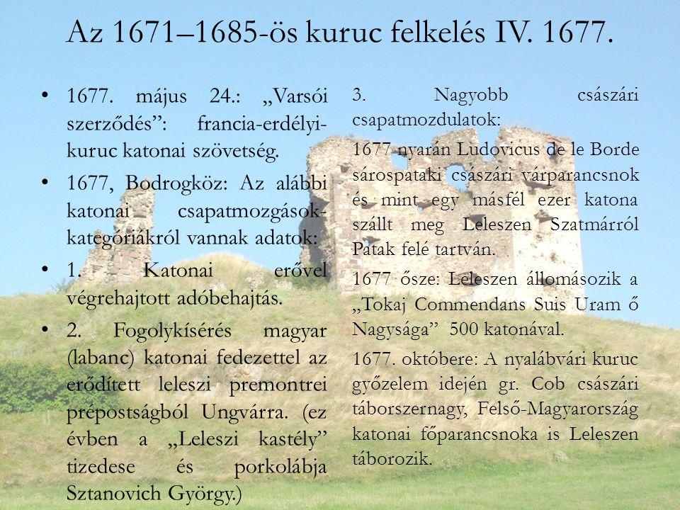 Az 1671–1685-ös kuruc felkelés IV.1677. 1677.