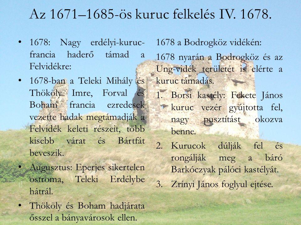 Az 1671–1685-ös kuruc felkelés IV. 1678.