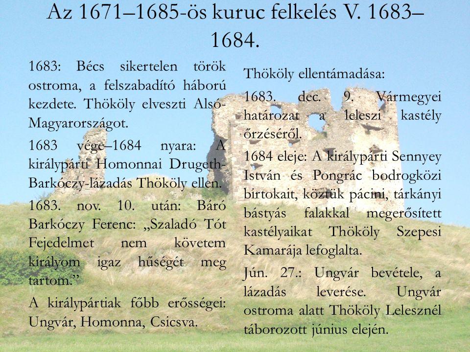 Az 1671–1685-ös kuruc felkelés V.1683– 1684.