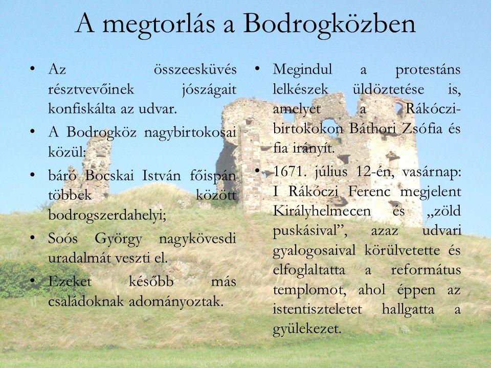 A megtorlás a Bodrogközben Az összeesküvés résztvevőinek jószágait konfiskálta az udvar.
