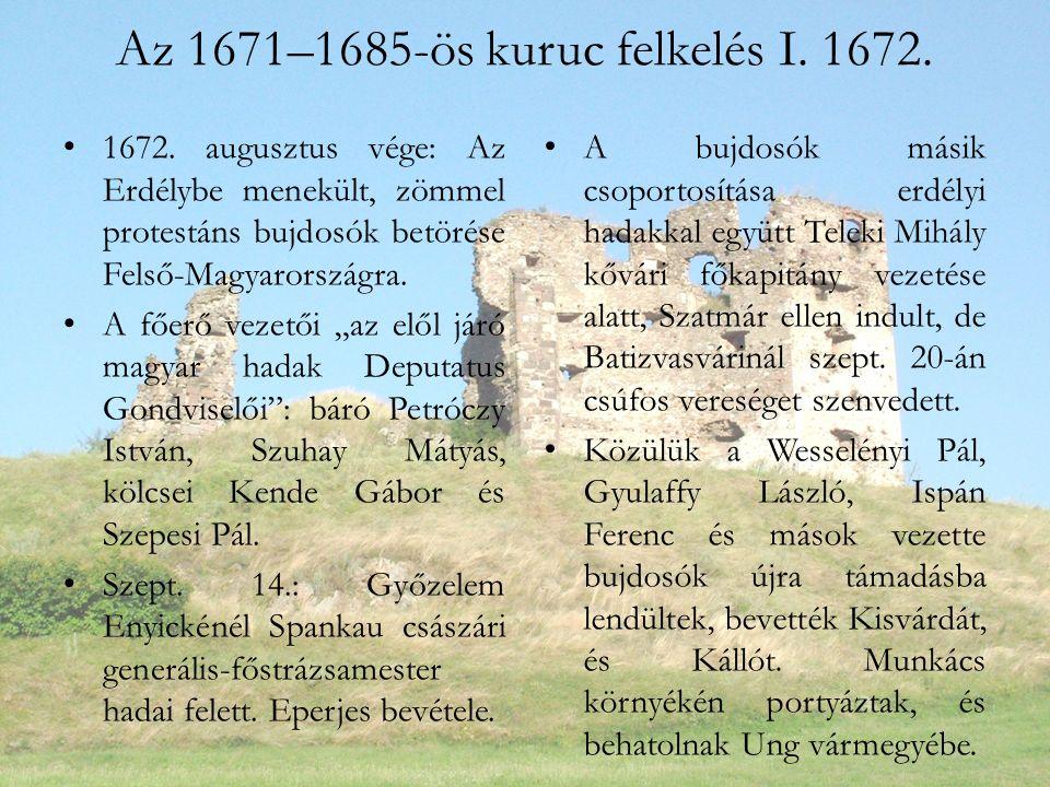 Az 1671–1685-ös kuruc felkelés I. 1672. 1672.