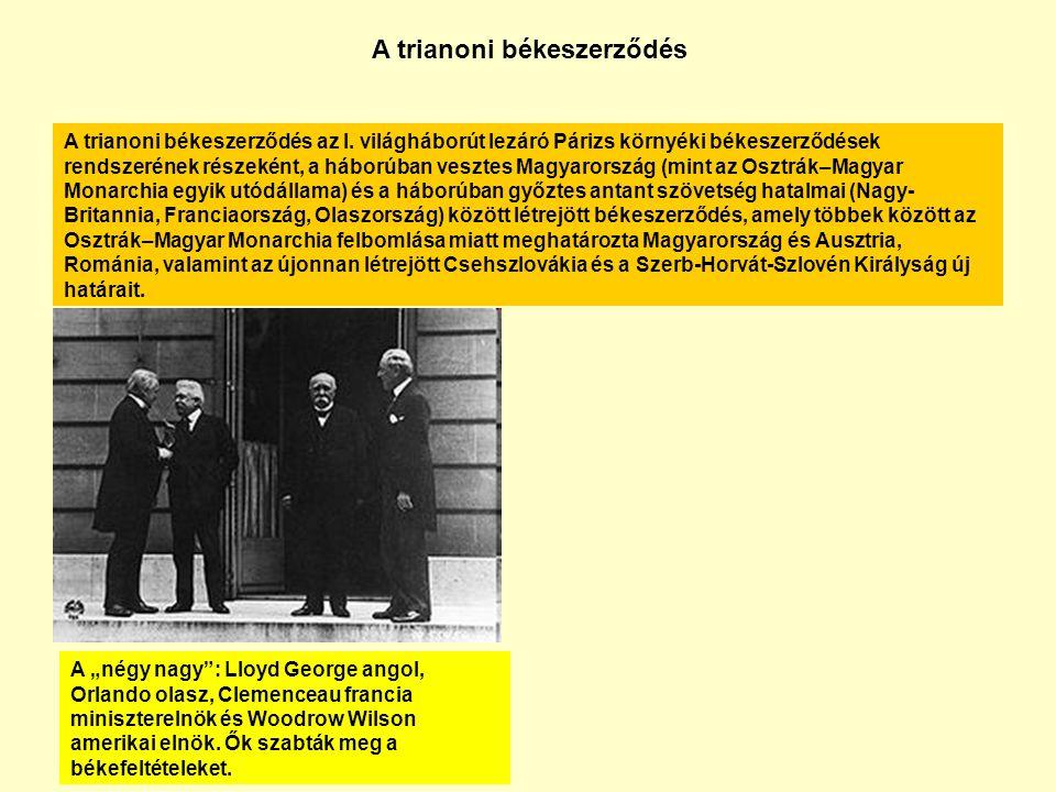 A trianoni békeszerződés az I.