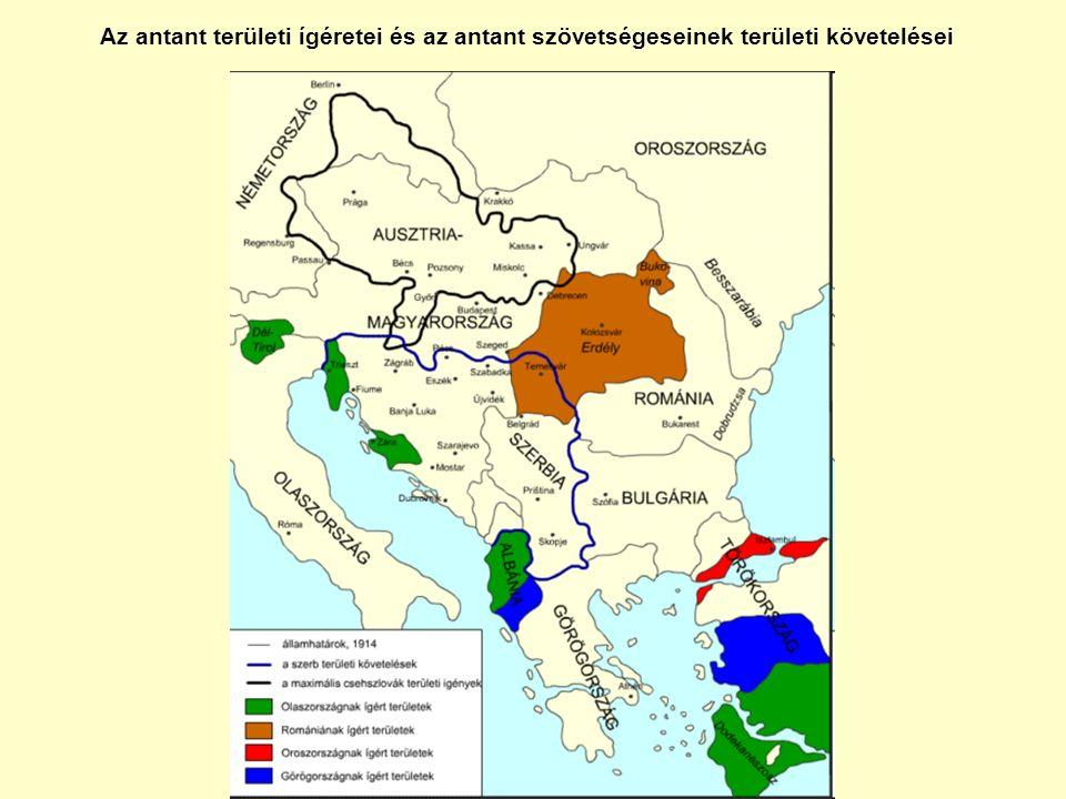 Az antant területi ígéretei és az antant szövetségeseinek területi követelései