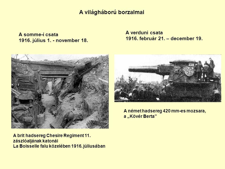A háború vége A Monarchia felbomlása -1917.tavasza.