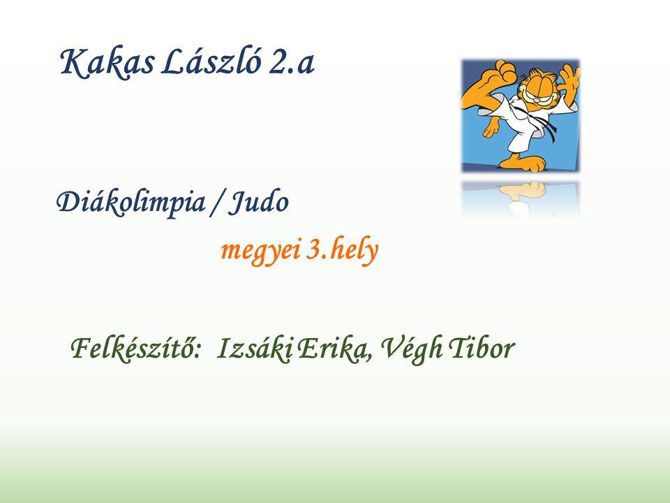 Kakas László 2.a Diákolimpia / Judo megyei 3.hely Felkészítő: Izsáki Erika, Végh Tibor