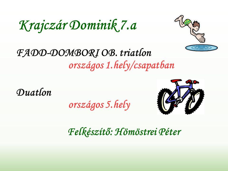 Krajczár Dominik 7.a FADD-DOMBORI OB.