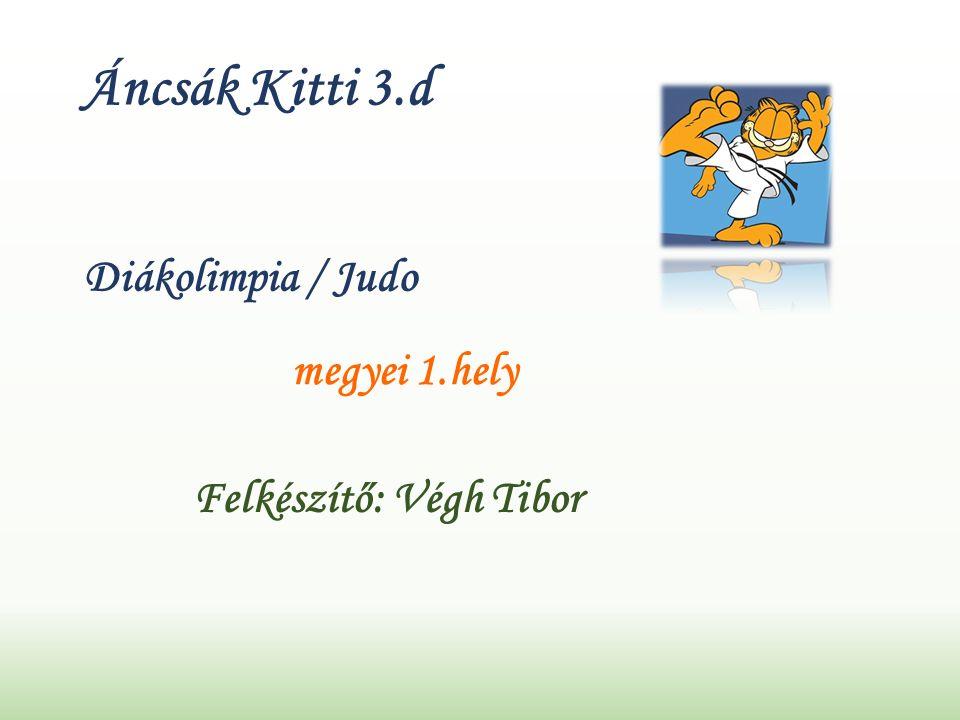 Áncsák Kitti 3.d Diákolimpia / Judo megyei 1.hely Felkészítő: Végh Tibor