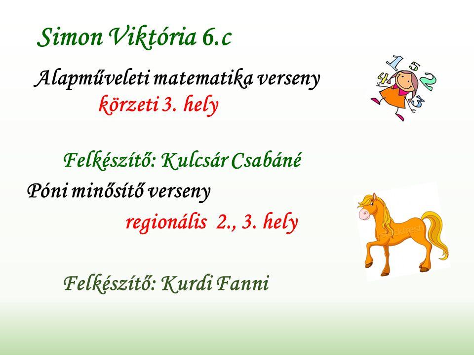 Simon Viktória 6.c Alapműveleti matematika verseny körzeti 3.