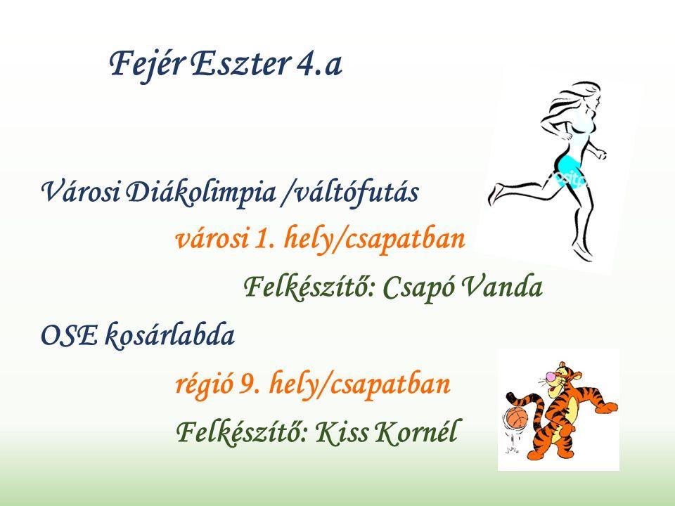 Fejér Eszter 4.a Városi Diákolimpia /váltófutás városi 1.