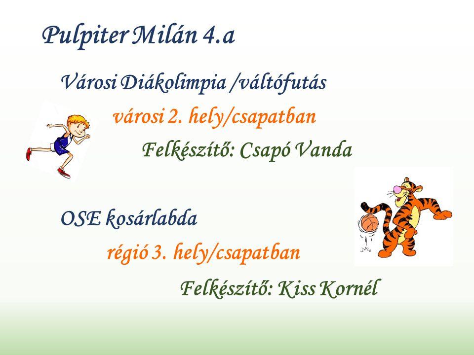 Pulpiter Milán 4.a Városi Diákolimpia /váltófutás városi 2.