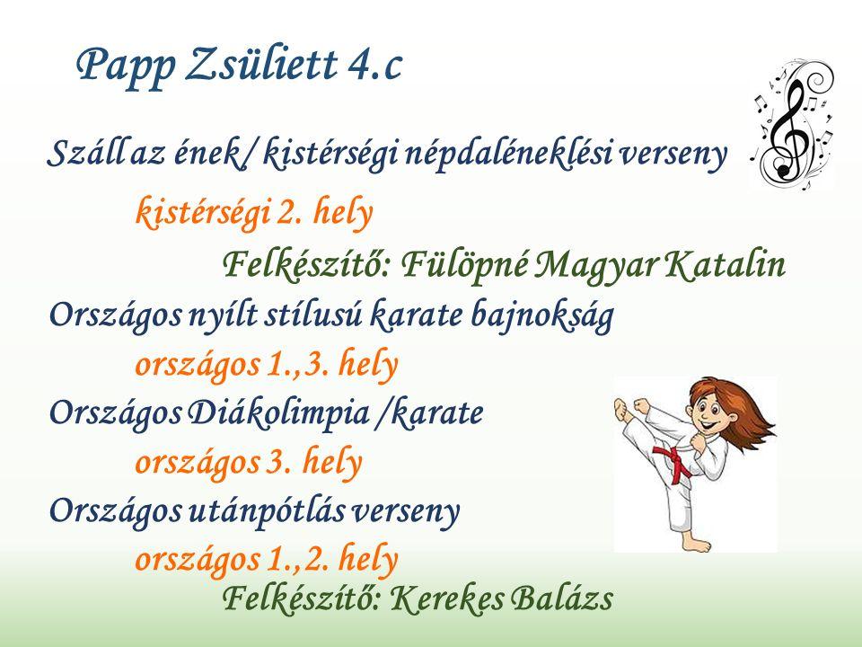 Papp Zsüliett 4.c Száll az ének/ kistérségi népdaléneklési verseny kistérségi 2.